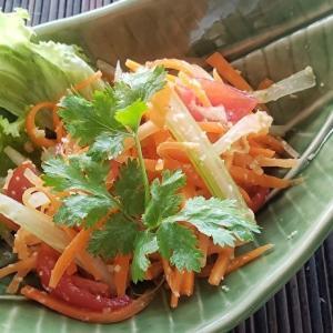 家庭でつくる本格的タイ料理シリーズ12 セロリとにんじんのソムタム