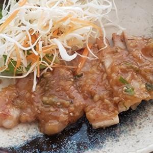 ご飯に良く合う 豚ロース肉のネギ味噌焼き