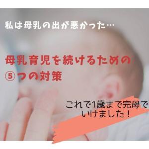 【母乳の出が悪い】私がつらい母乳育児を続けるためにやった⑤つの対策