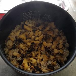 さざえご飯を炊きました~!