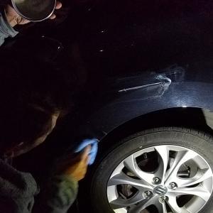 車を、ぶつけた娘~(ー_ー;)