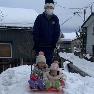 北国の、雪遊び~!