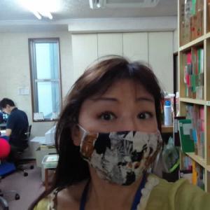 ネコ柄のマスク