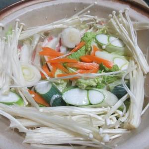 豚肉と白菜のミルフィーユ鍋、からの~のアジ変