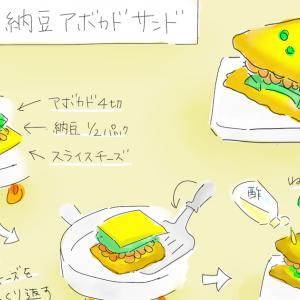 チーズの納豆アボカドサンド