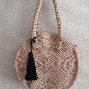 「夏糸で編む小さなバッグとポーチ」より風工房さんのサークルバッグ【画像あり】