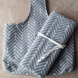Teamoyの編み針収納ケースと編み物用トートバッグ