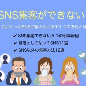 SNS集客できない【私がとったSNSに頼らないある1つの方法とは?】