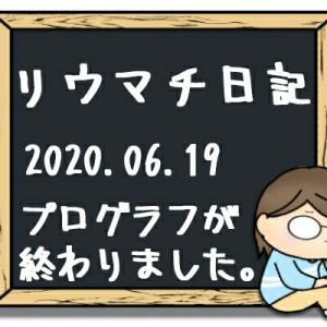 プログラフが終わりました。2020年6月19日のリウマチ日記