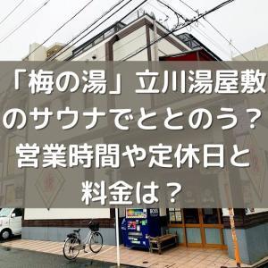 「梅の湯」立川湯屋敷のサウナでととのう?営業時間や定休日と料金は?