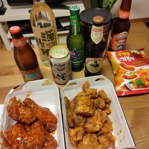 一週間食べたかった韓国チキン。