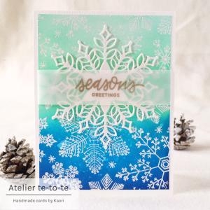 【オーダー品】季節をぶっ飛ばしてクリスマスカード☆