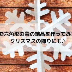 折り紙で六角形の雪の結晶を作ってみました!クリスマスの飾りにも♪