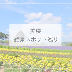 【北海道】美瑛の絶景スポット巡り(ぜるぶの丘・赤い屋根のある丘・北西の丘・三愛の丘・小麦畑・俵ロールなど)