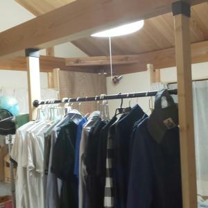 【DIY】長男の部屋の壁代わりにハンガーポール設置