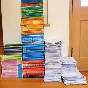 【四谷大塚】息っ子の中学受験3年間のテキストとノート、プリントと、「女子学院」と「麻布」の算数の取り組み