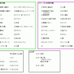 【中学受験】 忘れ物はない?受験当日のチェックリスト!!