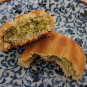 和菓子司つぼやで「ずんだまんじゅう」を食べてみた。