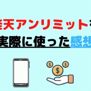 【体験談】楽天アンリミットを実際に使った感想を公開