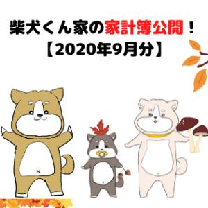 柴犬くん家の家計簿公開!【2020年9月分】