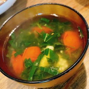 -7.4kg糖質制限1年2か月9日目*モロヘイヤとミニトマトのスープ