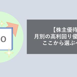 【株主優待QUOカード】月別の高利回り優待銘柄はここから選ぶべし!