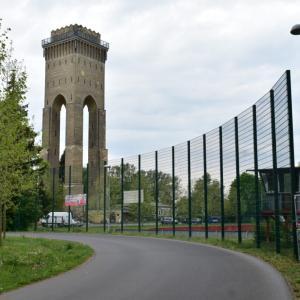 かつて「ヒンデンブルク塔」と呼ばれたフィノウ給水塔の内部に入る
