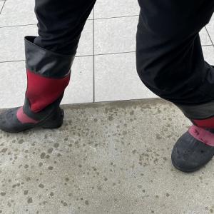 長靴(ブーツ)の中での靴下ズレ防止