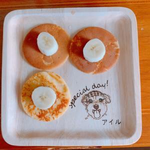 ばえる!世界にひとつの木製食器で作ったマック風なパンケーキ