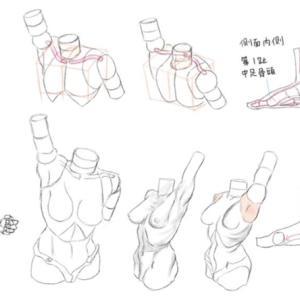 『キム・ラッキの人体ドローイング』模写その2