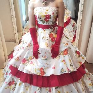 嫁(仮)のドレス姿再び!!ドレス選びって難しい・・・