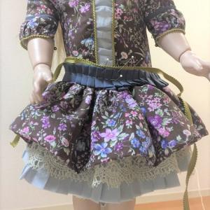 ビスクドール制作 ドレスのベルト