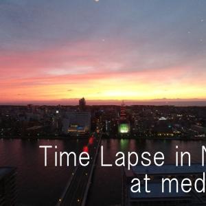 movie vol.8 / Time lapse in Niigata at media ship / osmo action interbal test / 新潟日報メディアシップからオズモアクションで夕景タイムラプスのテストを行いました