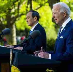 日米共同声明 台湾香港ウイグルを盛り込む 中国は猛烈に反発