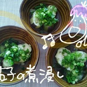 It's ~ weather☀👕👖茄子煮浸し.納豆揚げ焼き.法蓮草胡麻和え.刺身.キャベツみそ汁