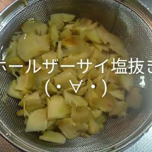 外出のスキに回収拭き掃除😉ホールザーサイ塩抜き!頂いたもやしでナムル.ふき煮物.刺し身味噌汁