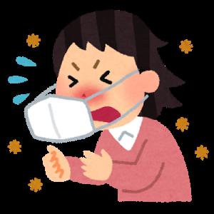 花粉症で鼻水出るのでティッシュつめてたんですが