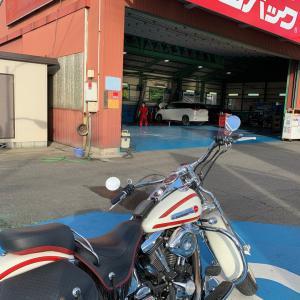 バイクの車検当日に…。