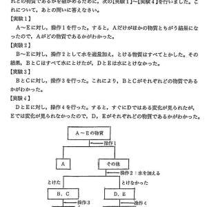 専修大学付属松戸中学校2021年度理科入試問題3.水溶液の性質 問題解説解答