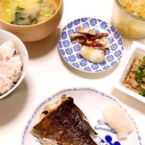 夜ご飯 お魚塩焼き