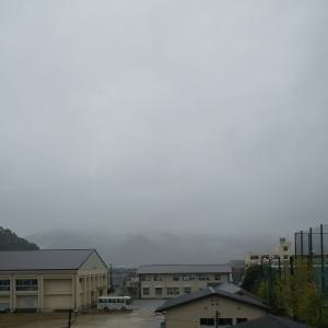 雨なので。