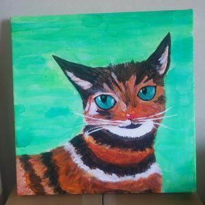 ちっちゃな角のある猫の絵・・・・
