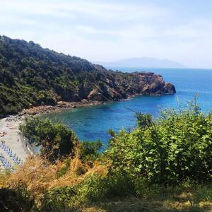 リヴォルノの海辺Piombinoの海辺ハイキング&ビーチFosso alle Canneで休息