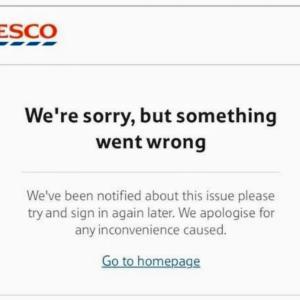 【Tesco】買い物が出来なくなった、、
