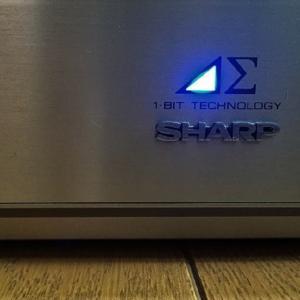SHARP 1bit デジタルアンプの出力波形も拡大するとガタガタ