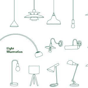 照明に関するインテリア用語をイラストを交えて簡単に紹介!!