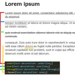 CSSを使った文字の線装飾