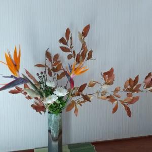 お花のお稽古再開...我が家は秋景色