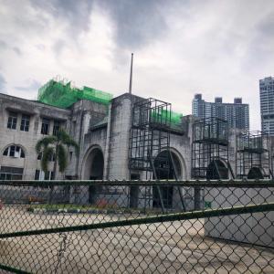シンガポール街歩き:タンジョンパガー廃駅とナショナルデーの旗