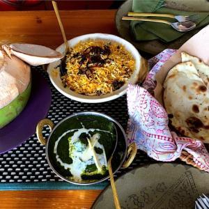 Mustard:リトルインディアのココナッツに入ったエビカレー